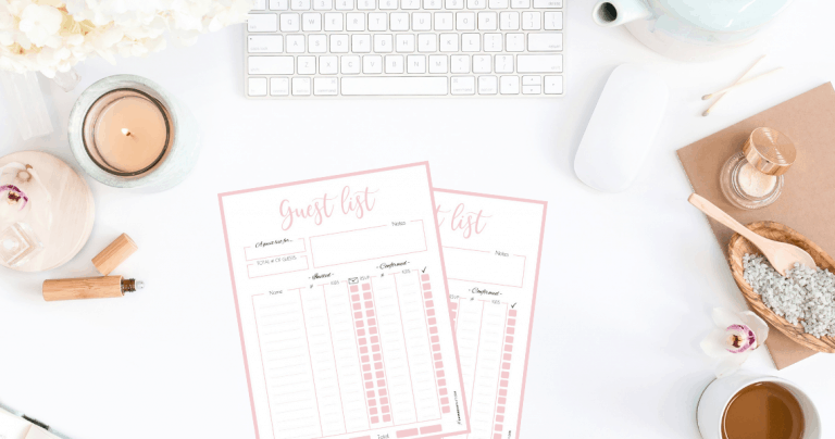 How to Plan the Guest List for Your Party + Pretty Guest List Planner