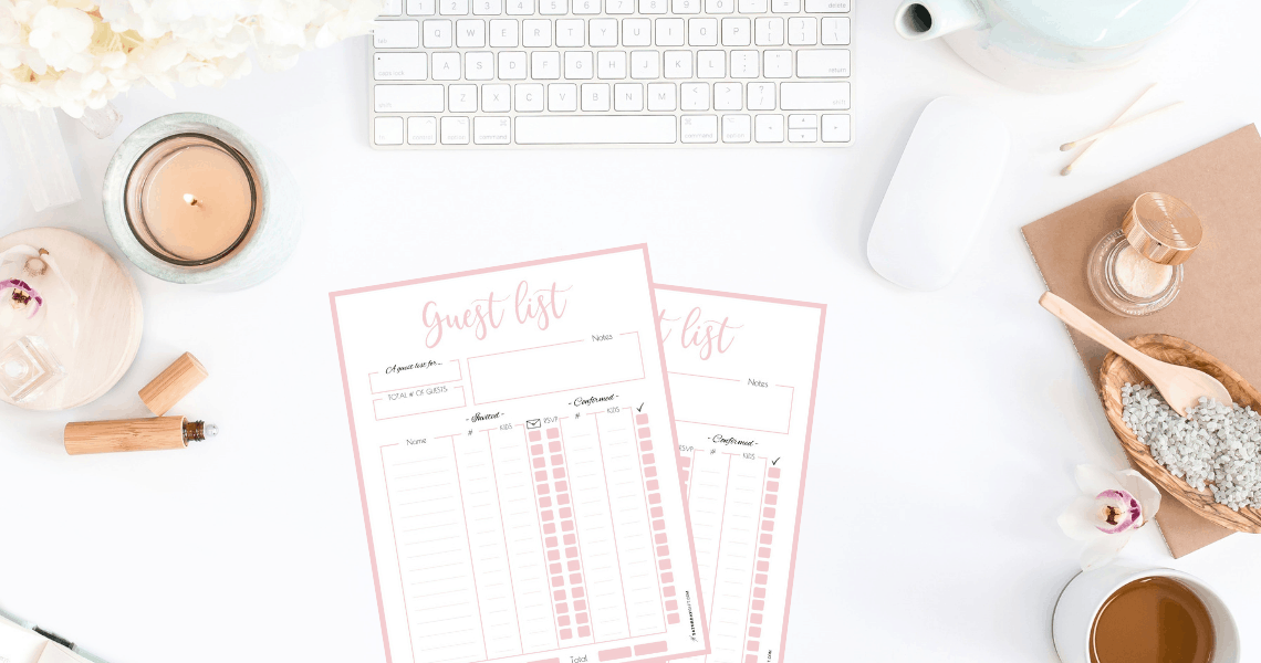 Printable party guest list template {Free printables} + step by step instructions on how to plan a successful party. Simplify your party planning so that you can be organized, productive and stress-free. Printable planner. Checklist. Party planning printable series - part 2 | SaturdayGift | Saturday gift #saturdaygift