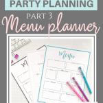 Printable party menu template {Free printables}