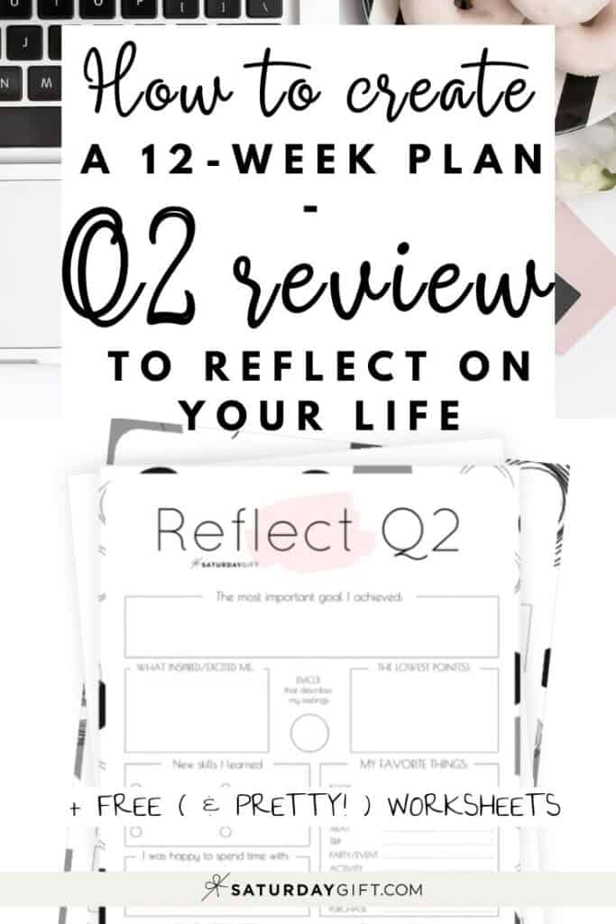 Q2 - Review your life with the quarter two reflection worksheet {Free Printable} | SaturdayGift