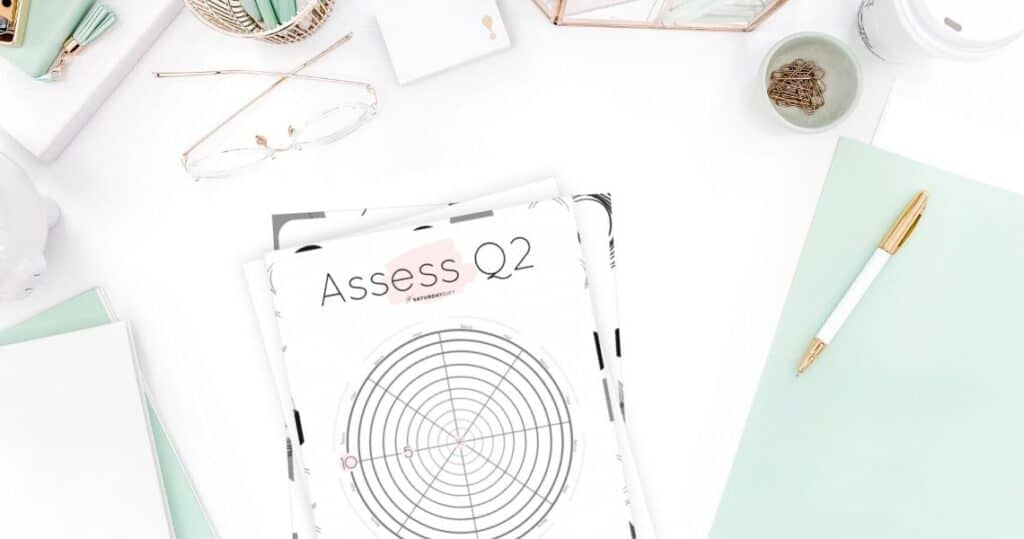 Q2 Wheel - Assess your life with the quarter two wheel of life/level 10 life worksheet {Free printable worksheet} | SaturdayGift