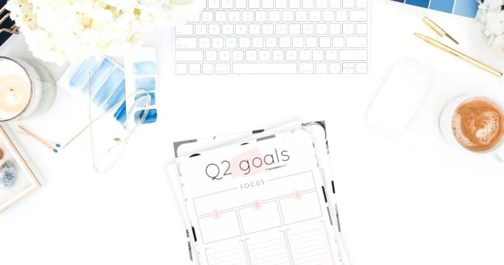 Q2 goals - Set and achieve quarter two goals worksheet {Free Printable} | SaturdayGift