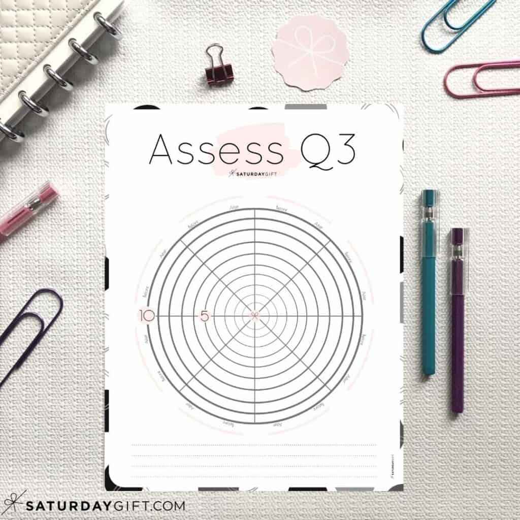 Pink Q3 Level 10 Life Worksheet