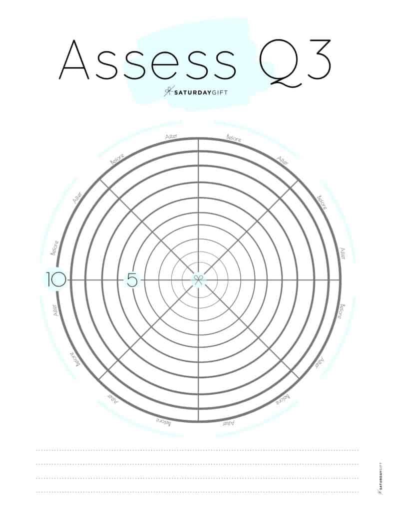 Blue Q3 Level 10 Life Worksheet