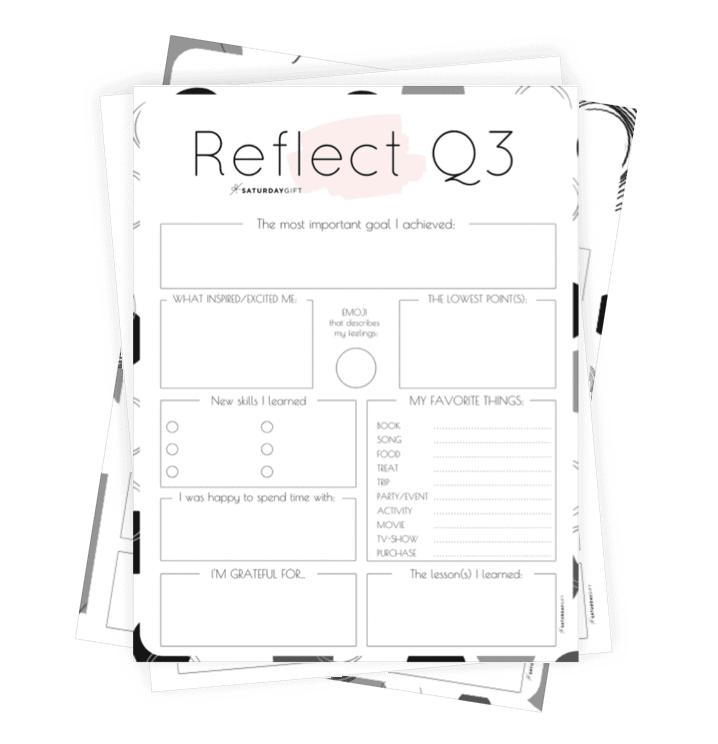 Q3 self-reflection worksheet collage