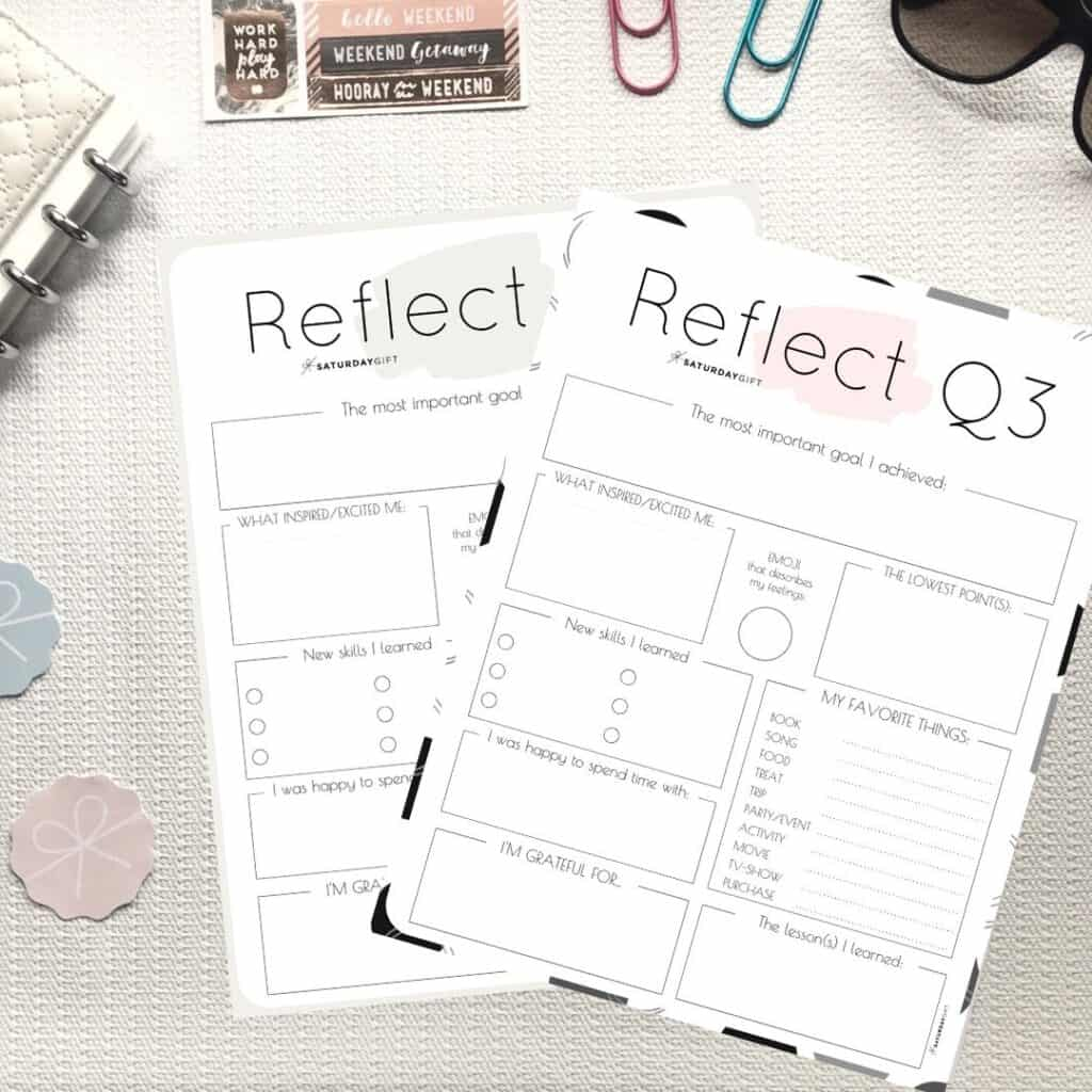 Pink and beige printable reflection worksheets