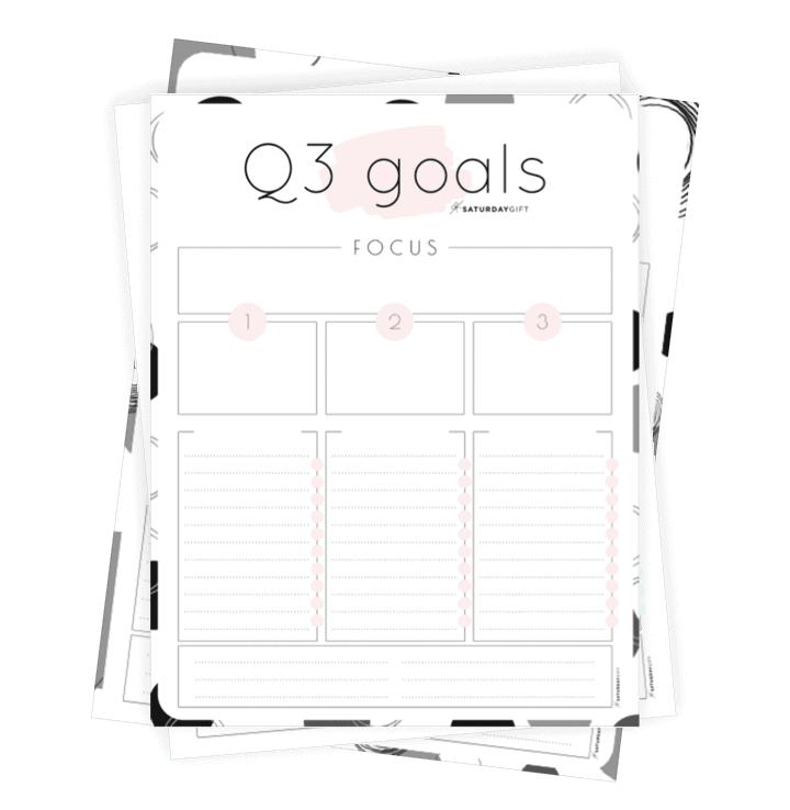 Q3 goals worksheet {Free Printable} Collage