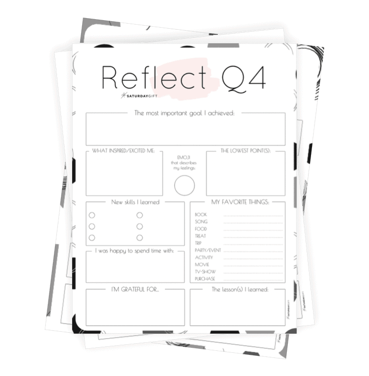Q4 self-reflection worksheet collage