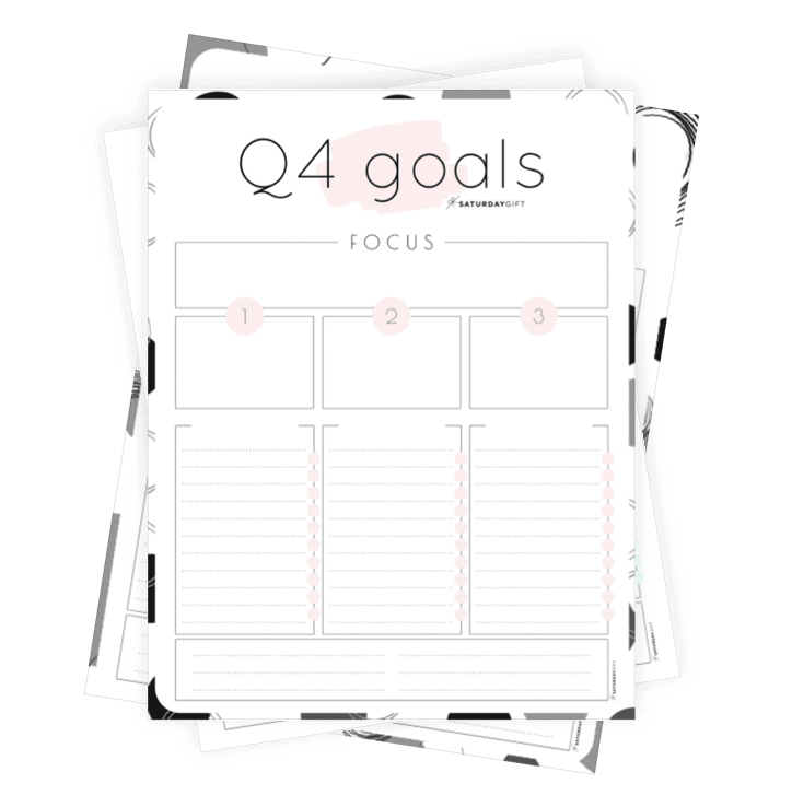 Q4 goals worksheet {Free Printable} Collage