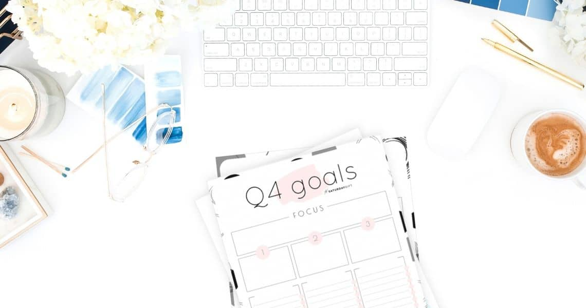 Q4 goals - Set and achieve quarter four goals worksheet {Free Printable} Featured