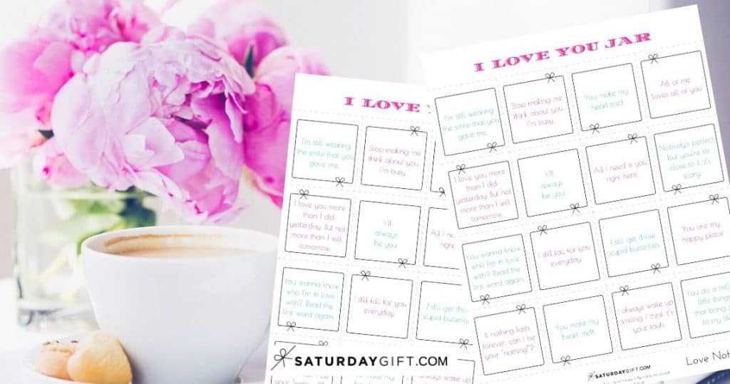 Reasons I love you jar - free printables - to create a fun extra gift to your loved one on Valentine's Day