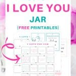 How to create Reasons I love you jar - free printables - to create a fun extra gift to your loved one on Valentine's Day (or any day of the year!)