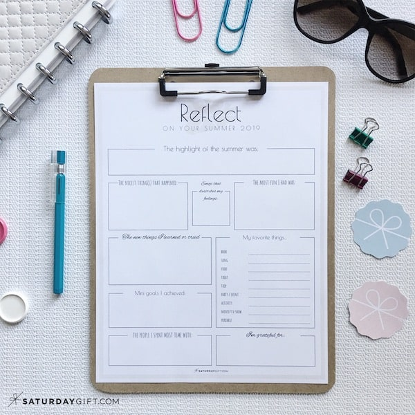 Reflect on your summer worksheet. Reflect before setting goals for the fall {+free worksheet}   Pretty printable   Planner sheet   Goal Planning   Reflect my year   Reflect on life   Achieve your goals   Self Development   Personal Development   Organization   Planning   SaturdayGift   Saturday gift #SaturdayGift