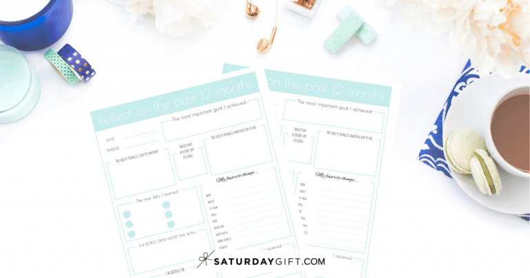 How to reflect On Your Year {+Free Printable}