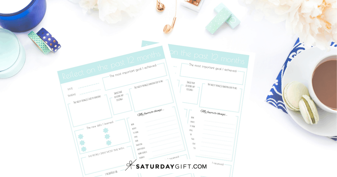 Reflect on your year - free printable | Pretty printable | Planner sheet | Goal Planning | Reflect your year | Year in review | Achieve your goals | Self Development | Personal Development | Organization | Planning | SaturdayGift | Saturday gift #SaturdayGift