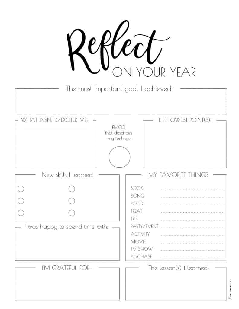 Want to be extra prepared for your best year yet? Super! Reflect on your year before setting new goals, learn from the past & set yourself for success. Here's how to do an end of year reflection. + Reflect on your year printable worksheet included.