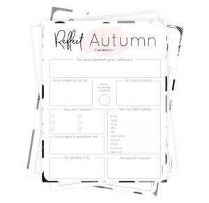 Pink autumn reflection worksheets