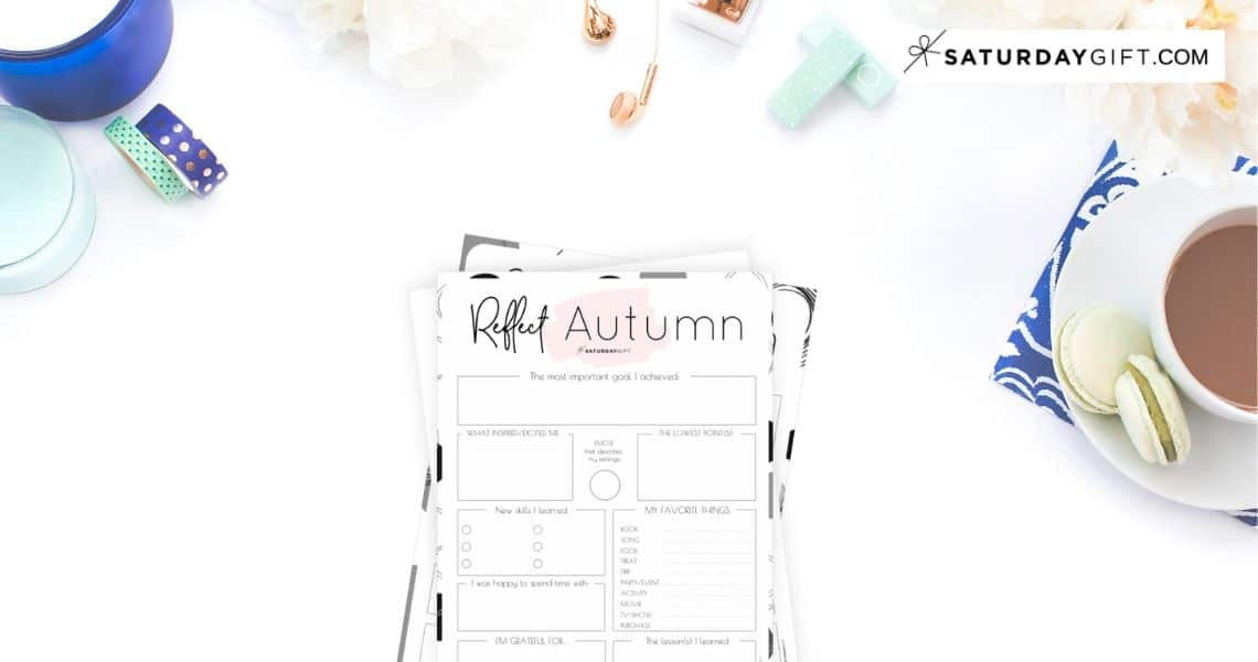 Review your life with the autumn reflection worksheet {Free Printable}