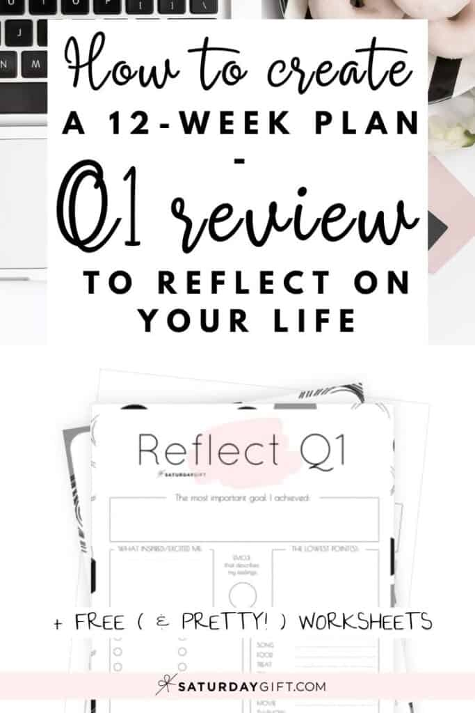Before setting new goals, it's important to review your life. Here's a quarter one reflection worksheet {Free Printable} that can help you do just that!