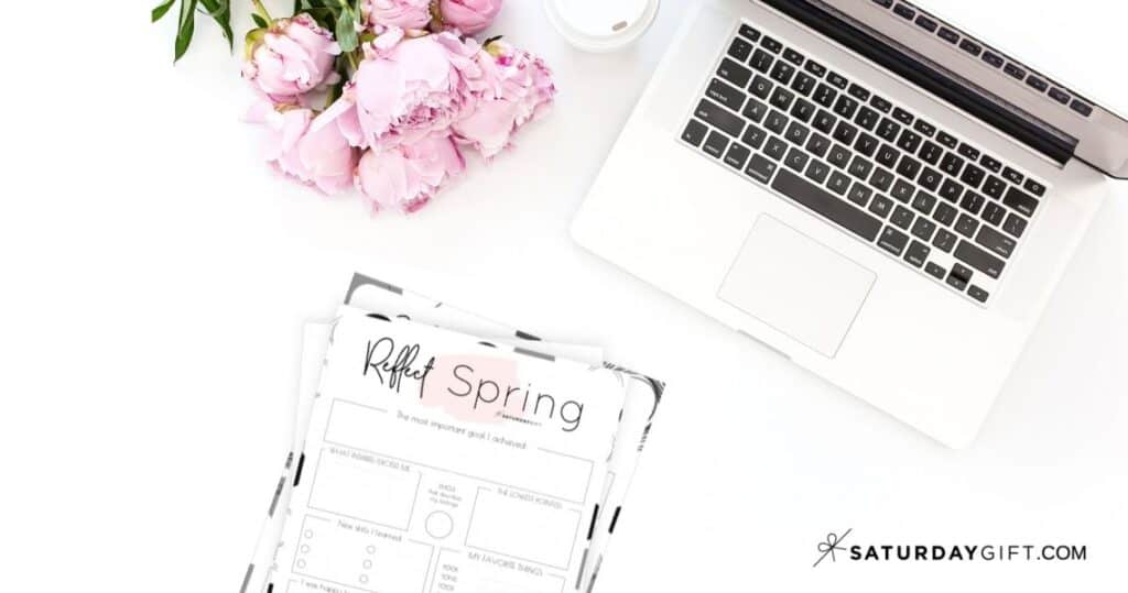 Review your life with the spring reflection worksheet {Free Printable}   SaturdayGift