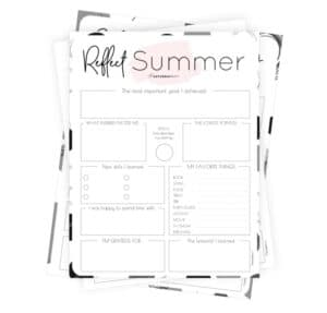 Review your life with the summer reflection worksheet {Free Printable} | SaturdayGift