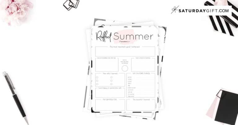 Review Your Life with the Summer Reflection Worksheet {Free Printable}