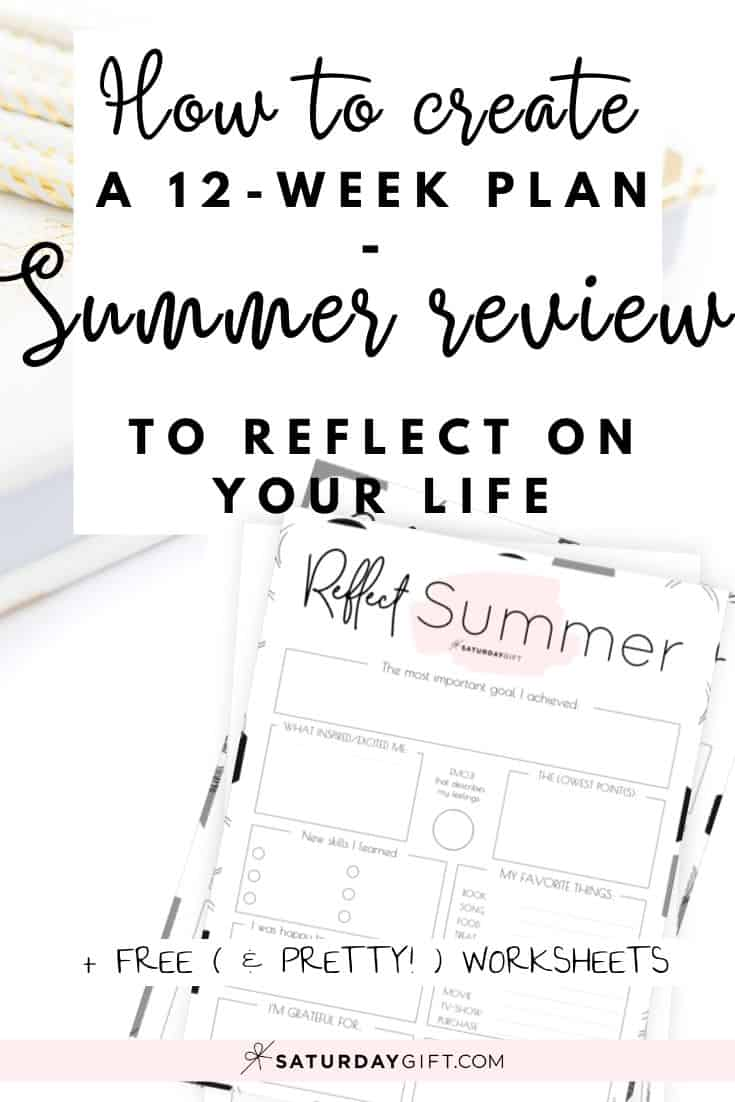 Before setting new goals, it\'s important to review your life. Here\'s a summer reflection worksheet {Free Printable} that can help you do just that!