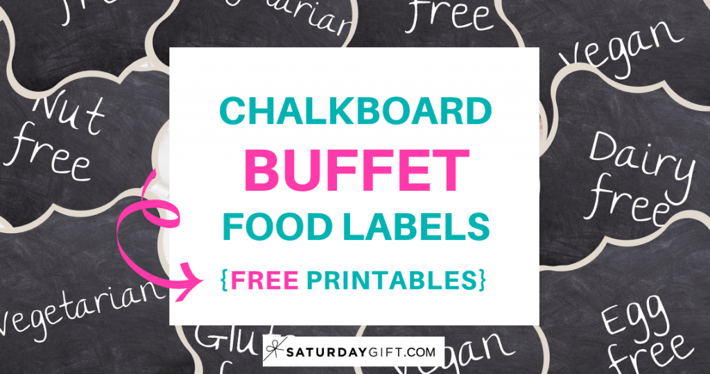 photo regarding Printable Food Labels identified as Chalkboard Buffet Foods Labels Totally free Printables SaayGift