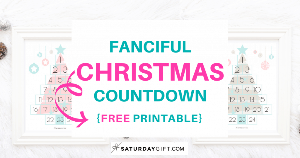 photograph relating to Countdown Printable named Fanciful Xmas Countdown Cost-free Printable SaayGift