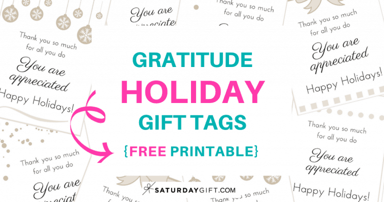 Gratitude Holiday Gift Tags {Free Printable}