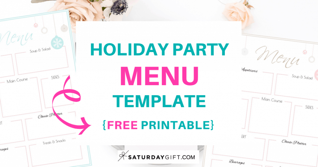 graphic relating to Printable Menu identify Holiday vacation Bash Menu Template Totally free Printable SaayGift