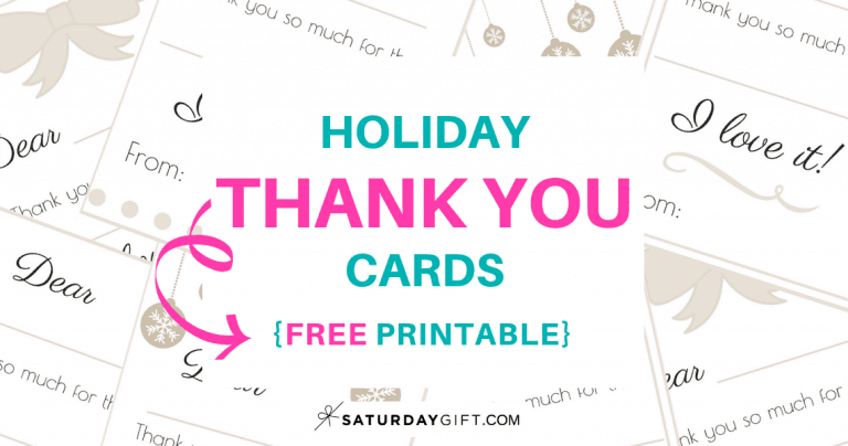 Holiday Thank You Cards {Free Printable}