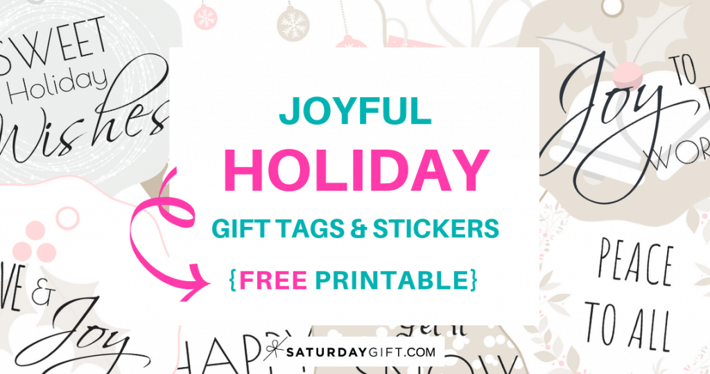 photo relating to Printable Holiday Tags named Satisfied Family vacation Reward Tags Stickers No cost Printable