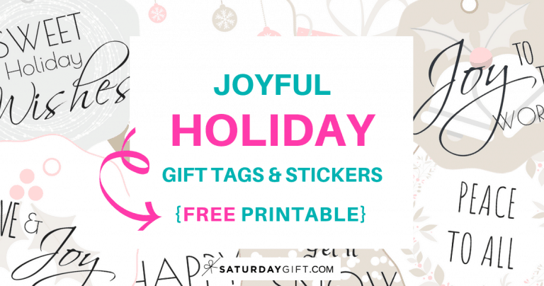 Cute & Joyful printable Holiday Gift Tags & Stickers