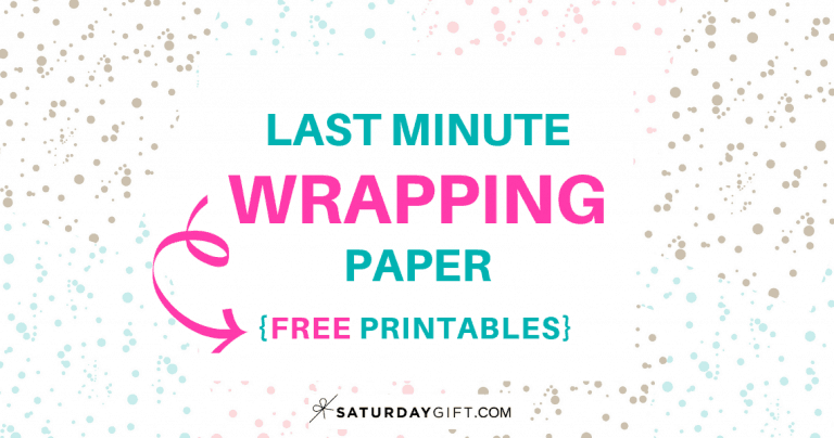 Last Minute Wrapping Paper {Free Printable}
