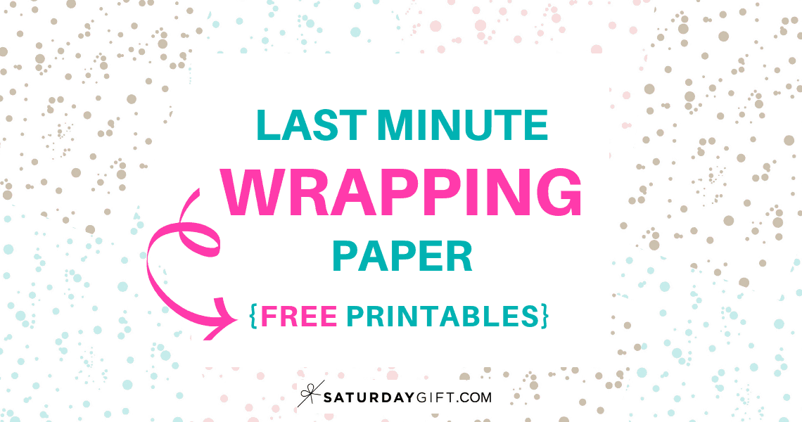Last Minute Wrapping Paper Dots - free printable | 25MerryDays | Advent Calendar | Holiday Printables | Christmas Printables | Pretty Printables | Pretty and elegant | SaturdayGift | Saturday gift #Saturdaygift #Saturdaygiftcalendar