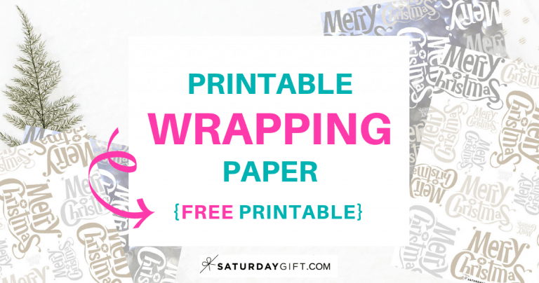 Printable Merry Christmas Wrapping Paper {Free Printable}