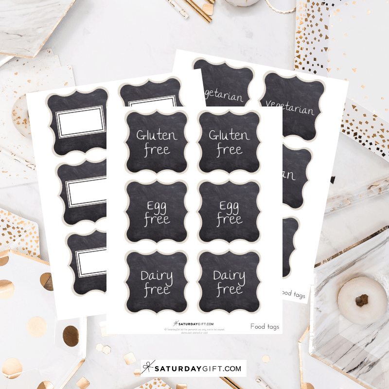 photo relating to Free Printable Buffet Food Labels referred to as Chalkboard Buffet Food stuff Labels No cost Printables SaayGift