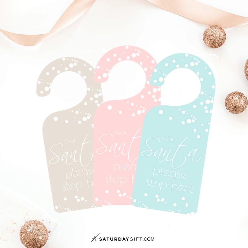 Welcoming Dear Santa Door Sign - free printable | 25MerryDays | Advent Calendar | Christmas Printables | Door Sign | Welcome sign | Pretty Printables | Dear Santa | SaturdayGift | Saturday gift #Saturdaygift #25merrydays