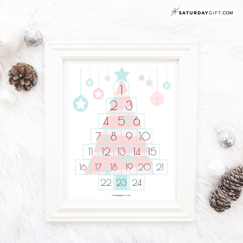 picture about Countdown Printable identified as Fanciful Xmas Countdown Absolutely free Printable SaayGift