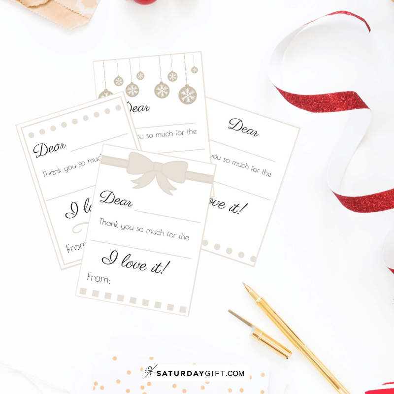 Holiday Thank You Cards - free printable | Advent Calendar | Printables | Gift tags | Be Grateful | SaturdayGift | Saturday gift #Saturdaygift