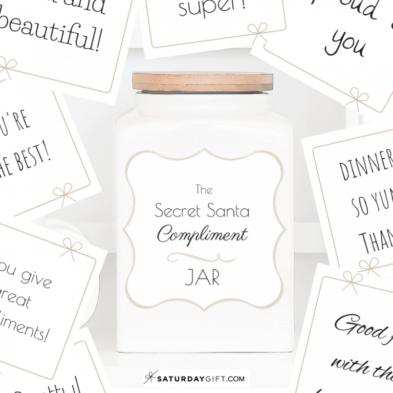 How to Create a Cute Secret Santa Compliment Jar