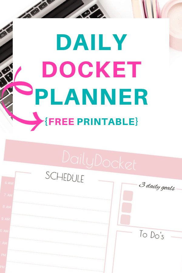 graphic regarding Daily Docket Printable named Each day Docket Planner Totally free Printable SaayGift