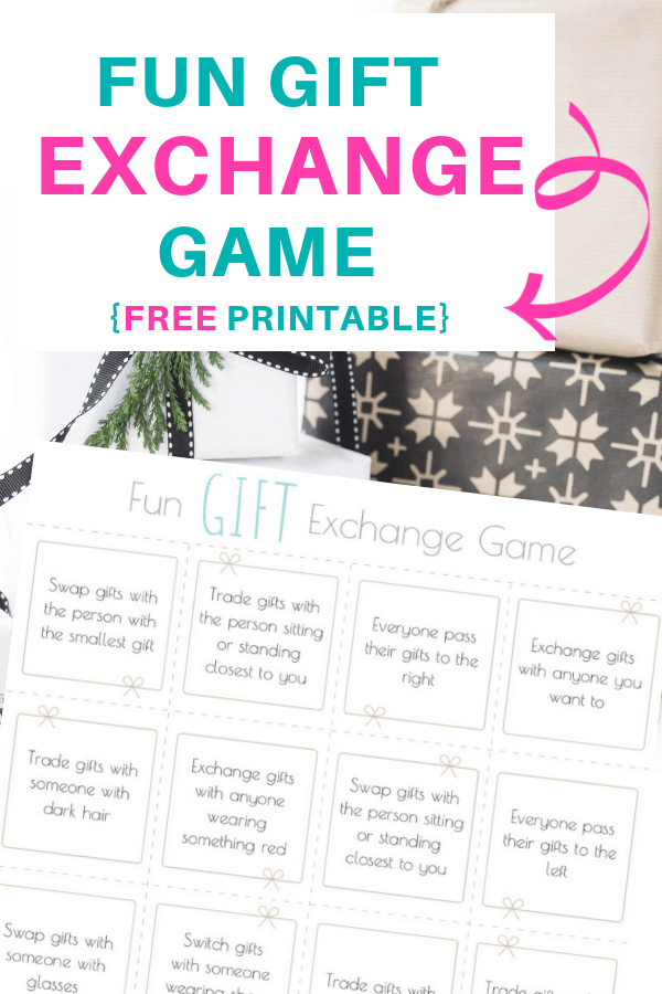 Fun Gift Exchange Game - free printables