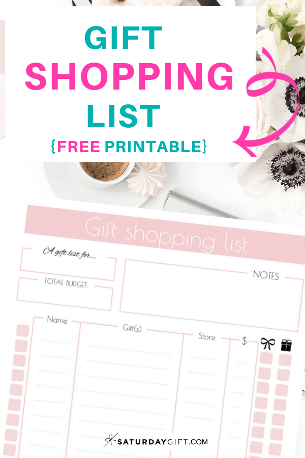 Cute Gift Shopping List | Smart and savvy | Savvy shopper | Gift shopping | Free printable | Planner sheet | Planner page| Gift planning | Gift ideas list | SaturdayGift | Saturday gift #SaturdayGift