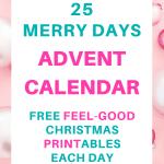 SaturdayGift 25 merry days of free feel-good Christmas printables   Advent Calendar   Pretty Printables   Checklists   Name tags   Food tags   Secret Santa   SaturdayGift   Saturday gift #Saturdaygift #25merrydays