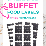 Pretty printable buffet food labels | SaturdayGift