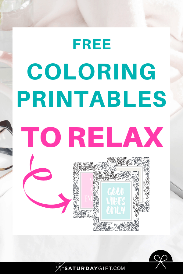Want to do some relaxing coloring? Super! While you\'re taking a foot bath or listening to an audiobook, these super simple printable coloring pages are a perfect way to relax while you\'re pampering yourself. #coloring #printables