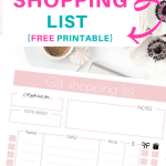 Cute Printable Gift Shopping List