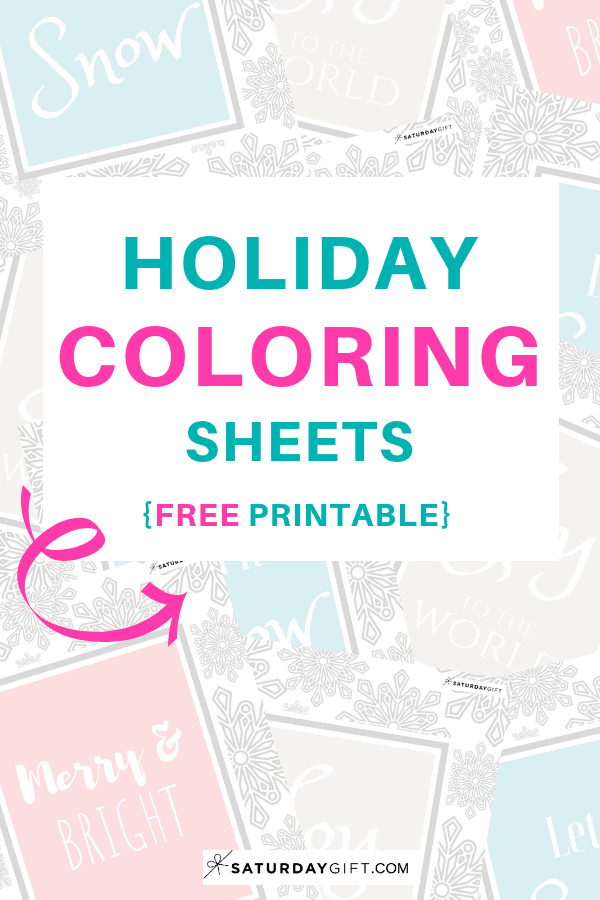 Joyful Holiday coloring sheets - free printables | pretty printable | free printables | coloring sheets | coloring for adults | mindful coloring | feel good coloring | quotes and affirmations | SaturdayGift | Saturday gift #SaturdayGift